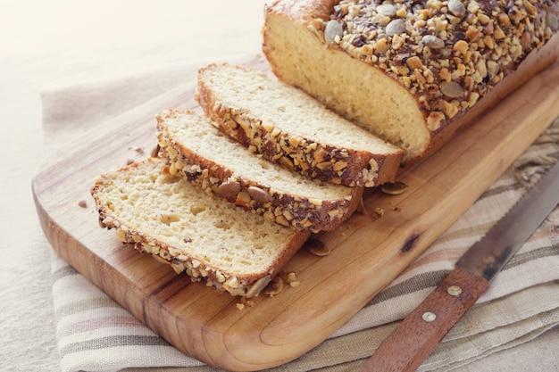Pain aux amandes sans gluten, régime cétogène