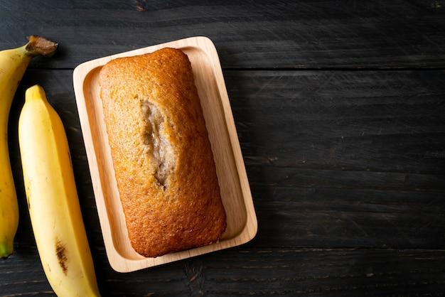 Pain aux bananes maison ou gâteau aux bananes tranché