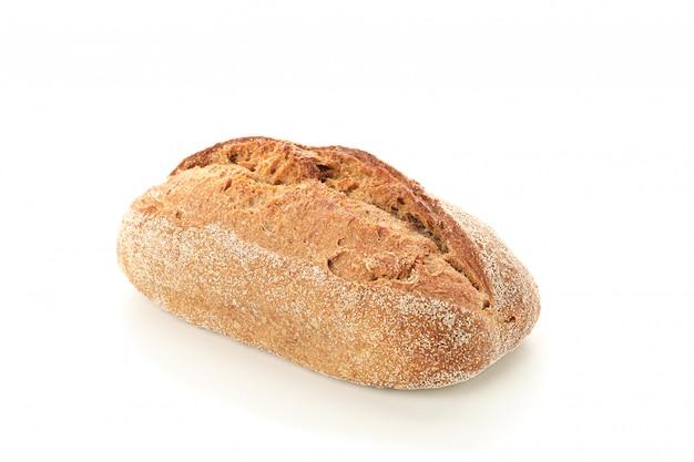 Pain de blé isolé. produits de boulangerie