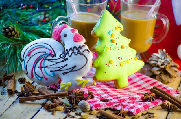 Pain d'épice et cacao de fête de noël et de nouvel an