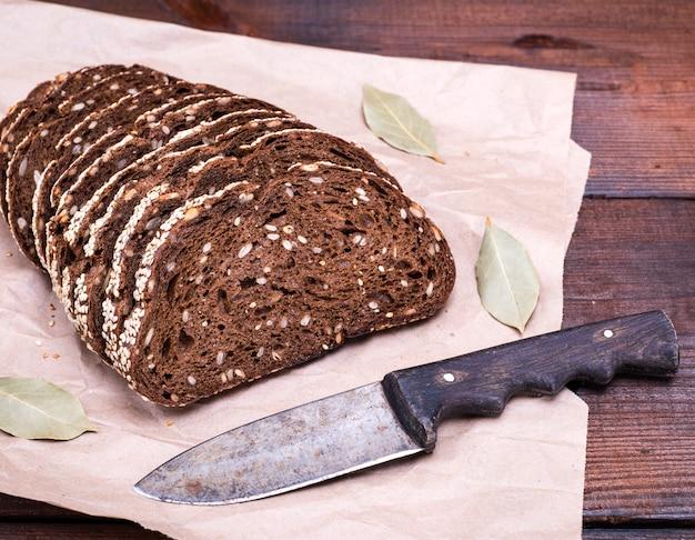 Pain de farine de seigle aux graines de tournesol