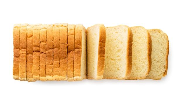 Pain grillé pain en tranches la vue du dessus.