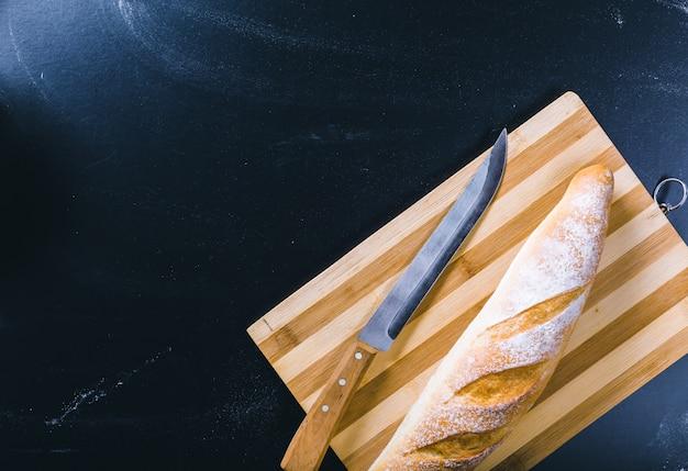 Pain de pain frais, vue de dessus de nourriture
