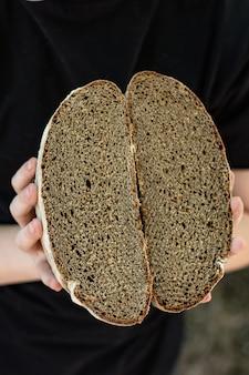 Pain de seigle noir malt frais produits de boulangerie