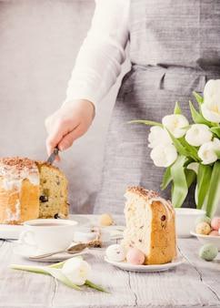 Pain sucré orthodoxe de pâques