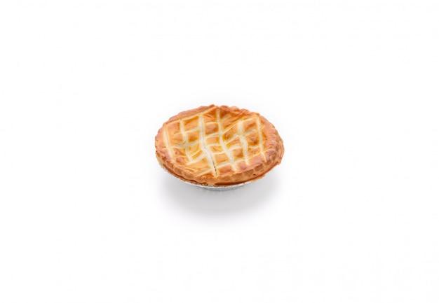 Pain à tarte alimentaire sur fond blanc isolé