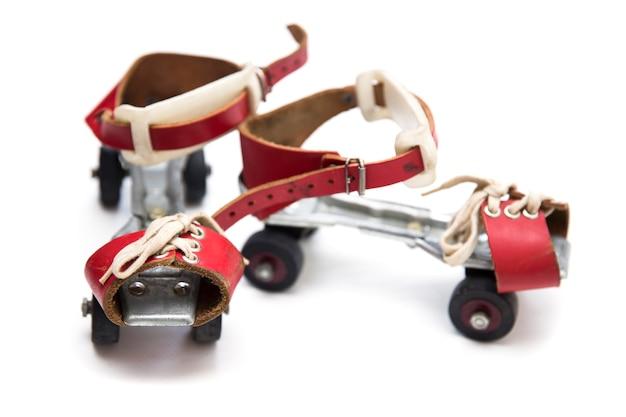 Paire de patins antiques rétro
