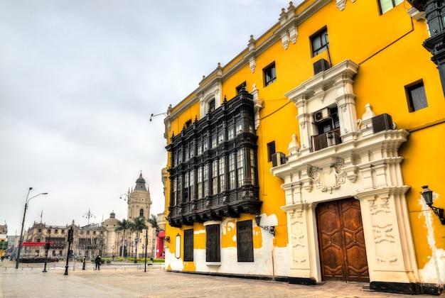 Le palacio municipal, l'hôtel de ville de lima, la capitale du pérou