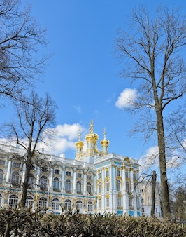 Palais de catherine à tsarskoïe selo (pouchkine), russie