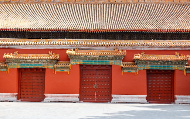 Palais de la cité interdite avec portes