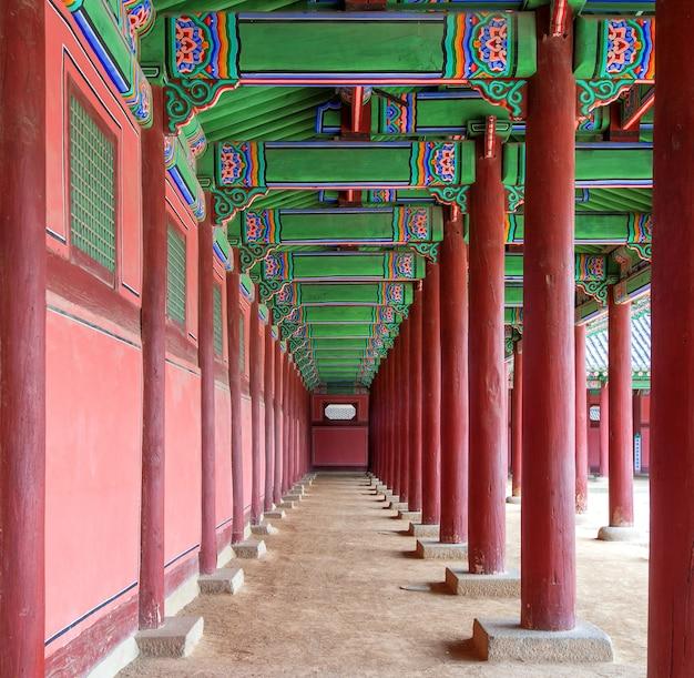 Palais gyeongbokgung en corée du sud.