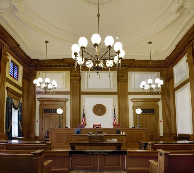 Palais de justice pioneer courtroom à portland, oregon