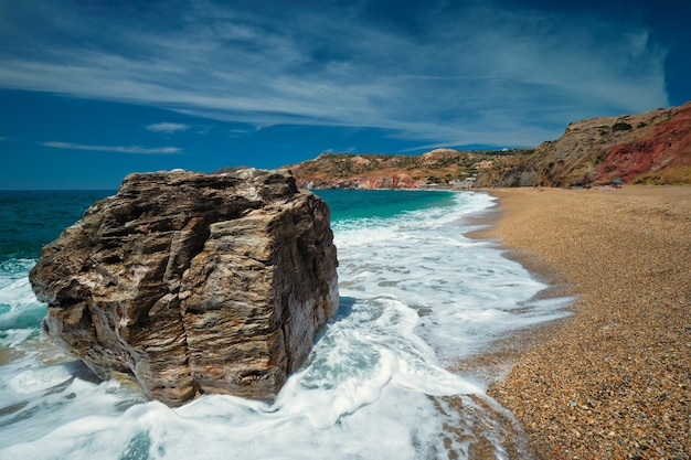 Paleochori beach milos island cyclades grèce