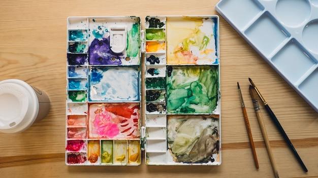 Palette à l'aquarelle
