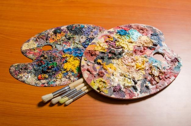 Palette d'artiste dans le concept artistique