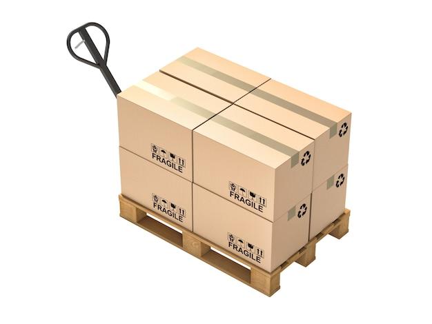 Palette et boîtes