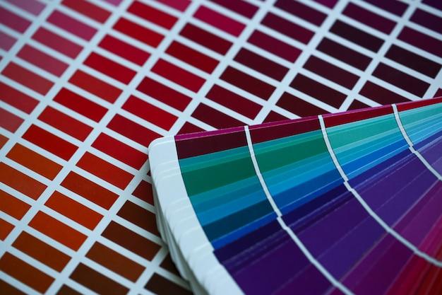 Palette de couleurs ou catalogue