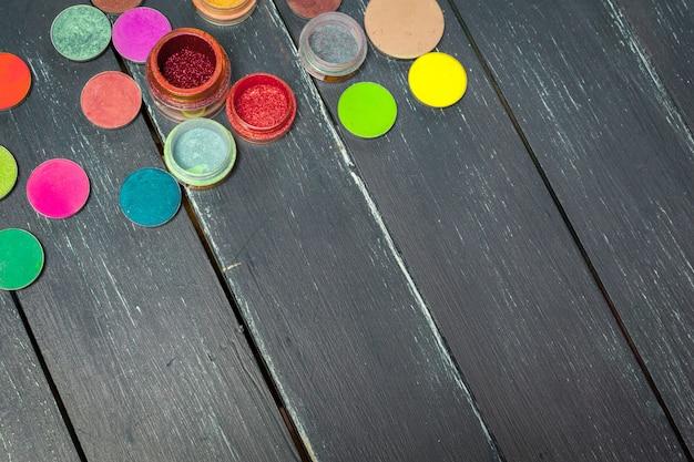 Palette de fard à paupières coloré maquillage