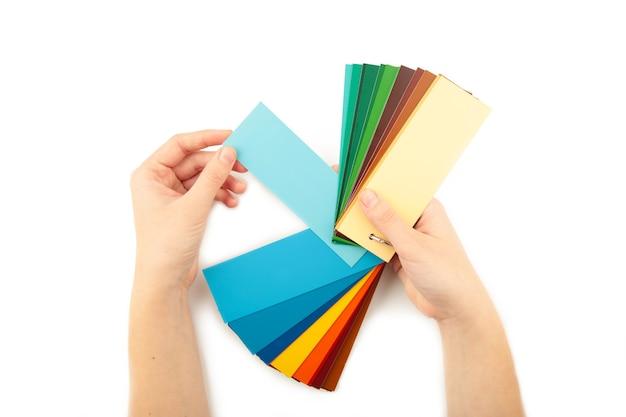 Palette de gamme de couleurs à portée de main