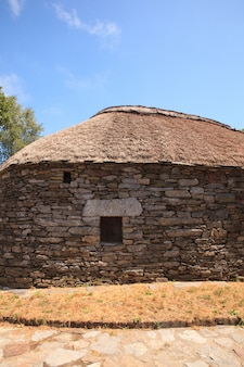 Palloza habitation espagnole traditionnelle du nord-ouest