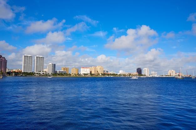 Palm beach skyline en floride, états-unis