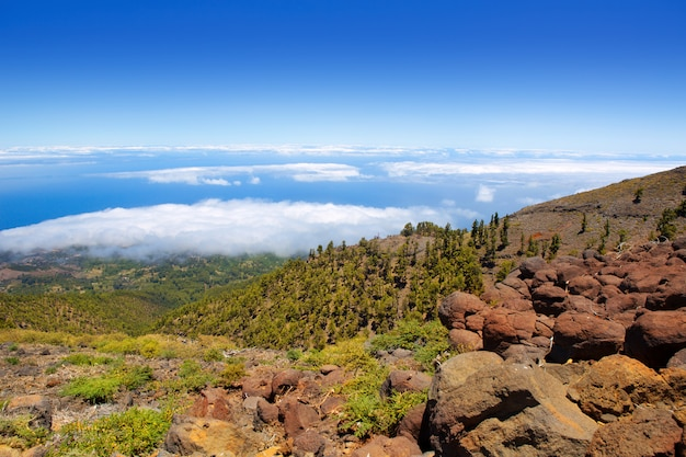 La palma caldera de taburiente mer de nuages