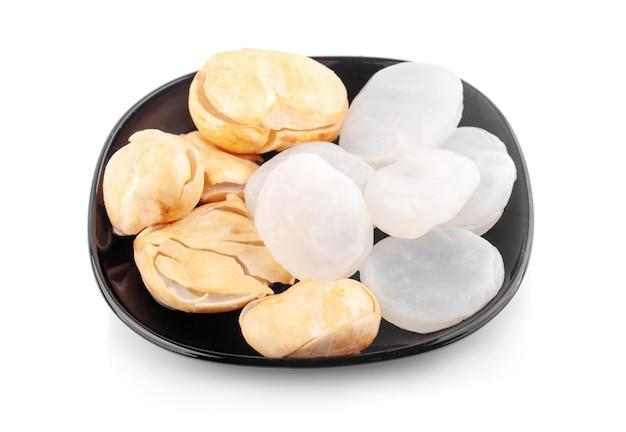 Palmier asiatique, palmier toddy, palmier à sucre un isolé sur blanc