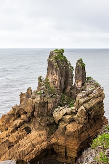 Pancake rocks cliffs of paparoa national park ile sud nouvelle zelande