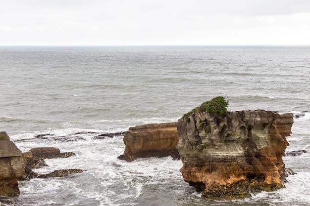 Pancake rocks ile sud nouvelle zelande