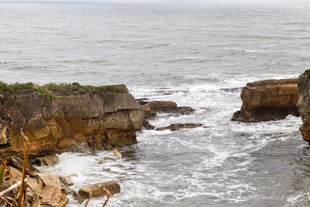 Pancake rocks paparoa ile sud nouvelle zelande