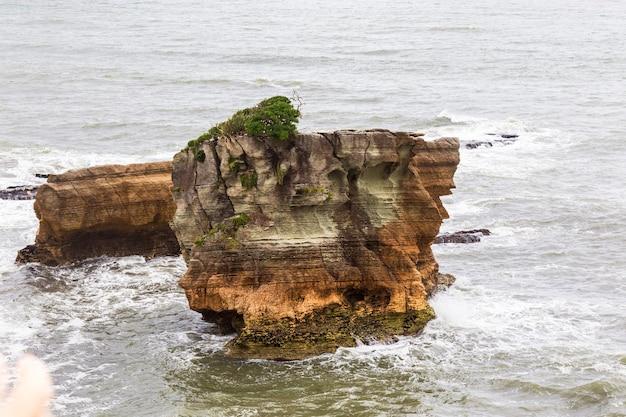 Pancake rocks partout des pierres du parc national de paparoa ile sud nouvelle zelande