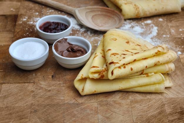Pancakes français faits maison