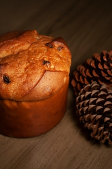 Panettone de noël traditionnel