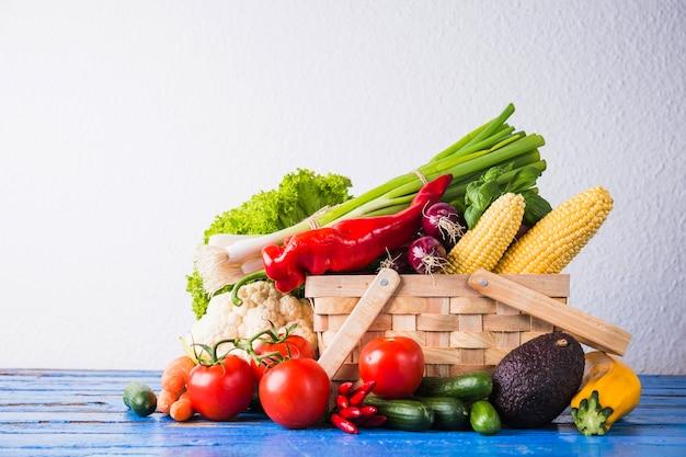 Panier de nourriture saine