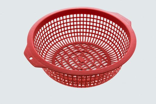 Panier en plastique de couleur rouge