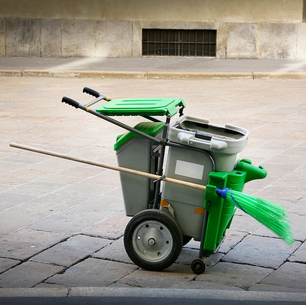 Panier pour la collecte urbaine des ordures