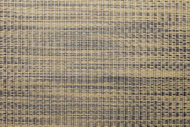Panier en rotin brun tissant un motif et une texture de fond