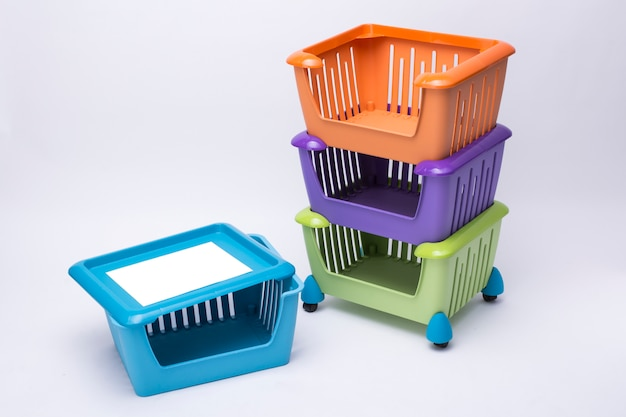 Paniers en plastique
