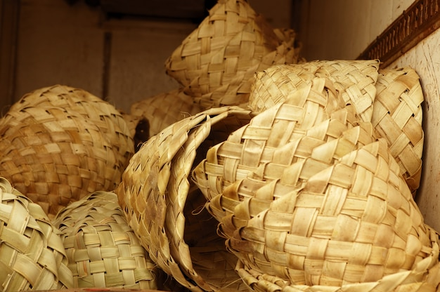 Paniers ronds artisanaux africains