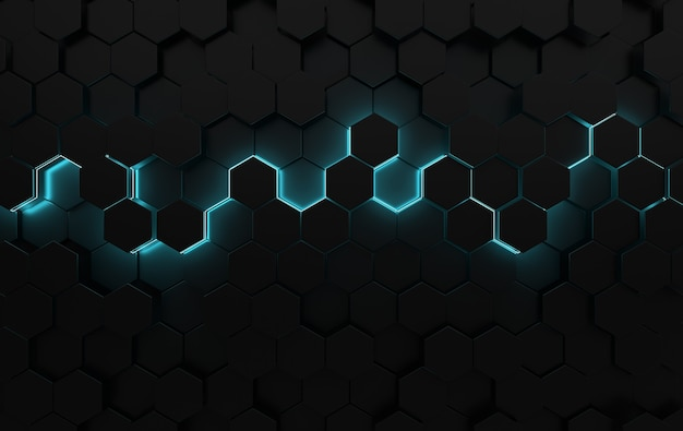 Panneau abstrait hexagonal