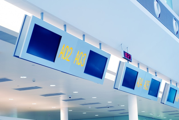 Panneau d'aéroport