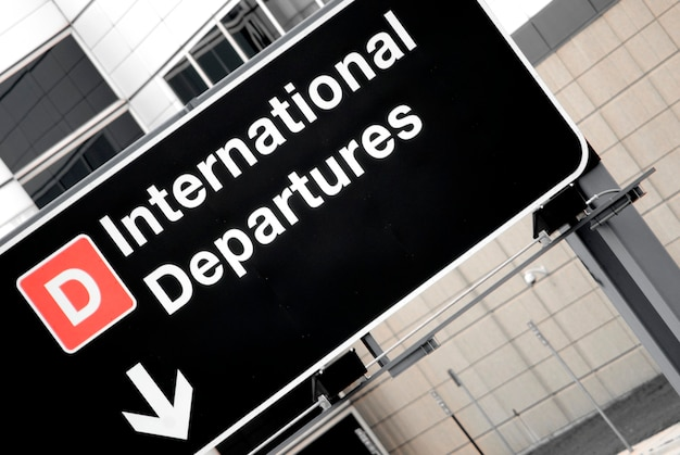 Panneau à l'aéroport