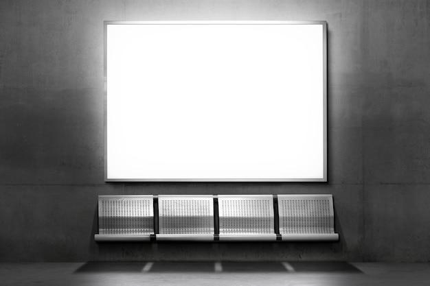 Panneau d'affichage avec espace de copie en couleur chromatique