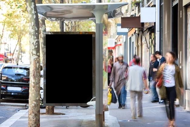 D'un panneau d'affichage extérieur