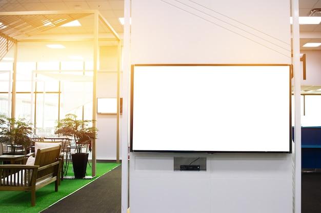 Panneau d'affichage lcd vide pour l'espace de copie dans votre message texte ou contenu promotionnel