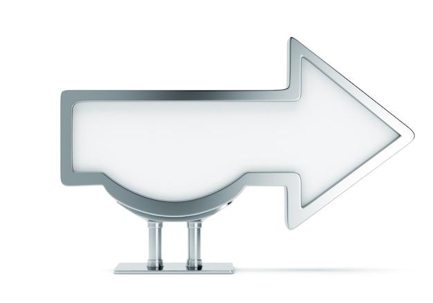 Panneau d'affichage métallique vierge