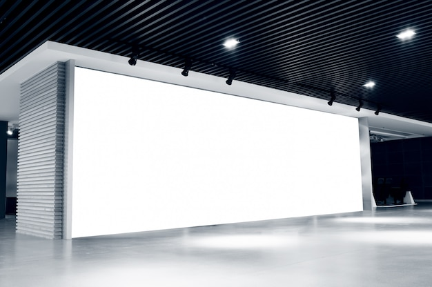 Panneau d'affichage vide intérieur