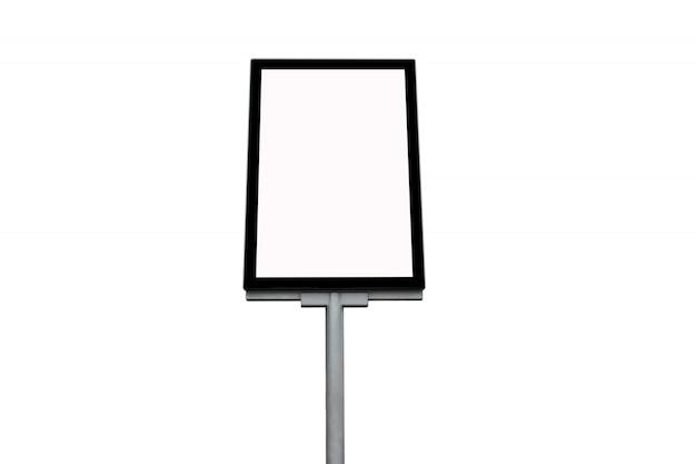 Panneau d'affichage vide isolé