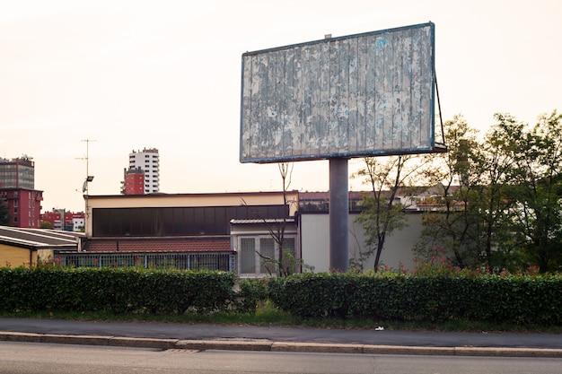 Panneau d'affichage vide, milan