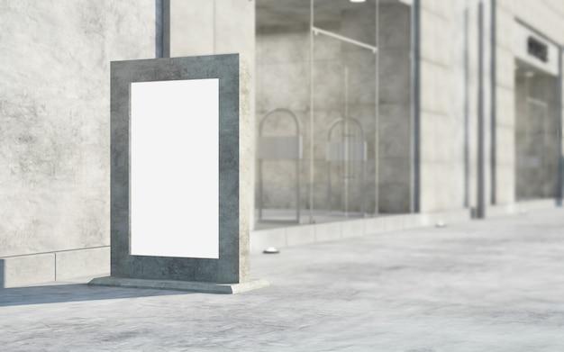 Panneau d'affichage vide vide dans la rue à la lumière du jour se concentrer sur le conseil